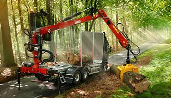 Žeriavy pre lesníctvo LOGLIFT