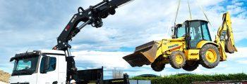 stavebné hydraulické ruky HIAB BIG RANGE