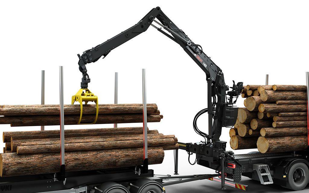 Hydraulické ruky pre lesníctvo