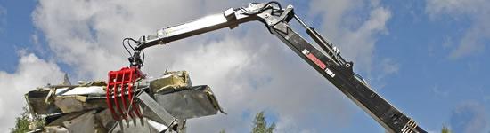 Hydraulická ruka pre recykláciu